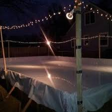 Homemade Backyard Ice Rink by Glice Available In Any Size And Shape Is Perfect For Hockey