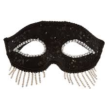 black halloween mask black fringe halloween mask claire u0027s us