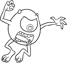monster university mike scaring coloring pages wecoloringpage