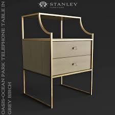 Stanley Furniture Desk Stanley Furniture Oasis Ocean Park Telephone Table In Grey Birch