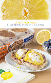 lemon meringue blueberry english muffin light lemony and the