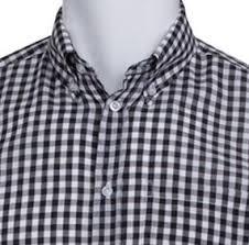 men u0027s black and white check gingham shirt