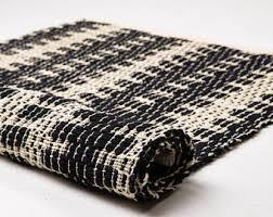 black and white rug etsy