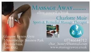 Sports Massage Business Cards Massage Away Sports Massage Therapist In Thornliebank