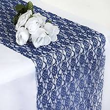 Navy Blue Table Runner Amazon Com Goldstream Point Navy Blue 108 Inch X 9 Inch Lace