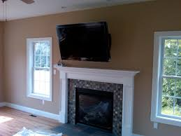 Mounting A Tv Over A Gas Fireplace by Fireplace Simple Fireplace With Tv Images Home Design Modern At