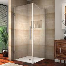 Glass Shower Doors Aston Aquadica 30 In X 72 In Frameless Square Shower Enclosure