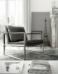 contemporary silver and leather accent lounge armchair las vegas