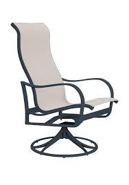 High Back Sling Patio Chairs Shoreline Sling Sling Patio Furniture Tropitone