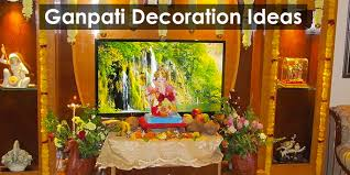 Home Ganpati Decoration Utsavi Marathi U2013 Eco Friendly Ganpati Decoration Ideas At Home