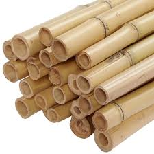 backyard x scapes 1 in x 8 ft natural bamboo poles 25 pack bundled