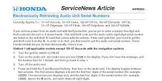 how to retrieve radio code for honda accord 2002 honda accord my radio