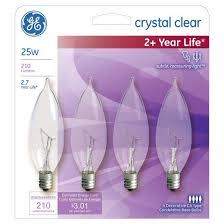 Chandelier Light Bulbs Ge 25 Watt Cac Long Life Incandescent Chandelier Light Bulb 4