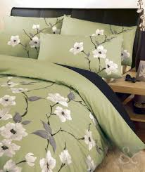 Diy King Duvet Cover Oriental Floral Duvet Cover U2013 Black Reversible Bedding Olive Green
