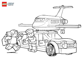 airport vip service colouring page lego city activities