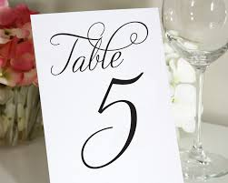 free table number templates template table numbers for wedding template