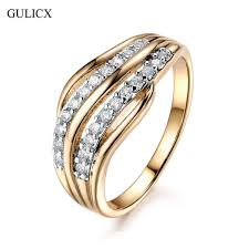 gold color rings images Gulicx new fashion female wedding bands jewelry gold color jpg