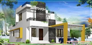 modern house design front view with small garden and gray path