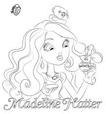 ever after high coloring pages dibujos de madeline hatter para