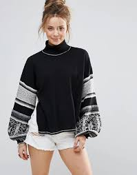 Free Northern Lights Sweater In Free Free Northern Lights Embroidered Sweater