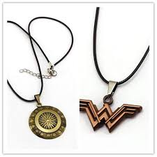 vintage necklace styles images Vintage 2 styles wonder woman shield pendant necklaces amboo jpg