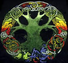 celtic tree of infinity knot plush fleece tapestry blanket