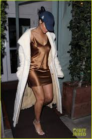rihanna makes her short gold dress look super glam photo 3507046