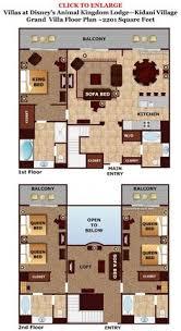 Bay Lake Tower One Bedroom Villa Floor Plan Studios At Disney U0027s Beach Club Villas Beach Club Villas And Beach