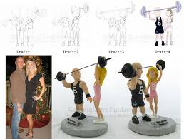 weight lifting cake topper fitness trainer cake toppers personal trainer cake tops