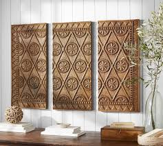 carved wood triptych pottery barn