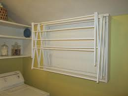 ideas wall mounted hanging rack beadboard drying rack wall
