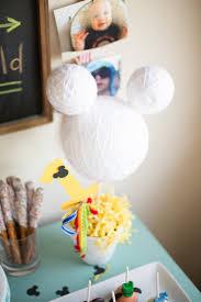 mickey mouse center pieces kara s party ideas styrofoam mickey mouse centerpiece from a