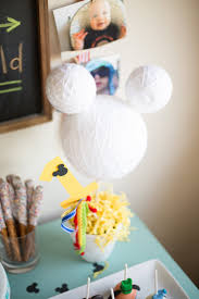 kara u0027s party ideas styrofoam ball mickey mouse centerpiece from a