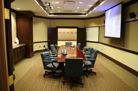 modern boardroom table conference room design with dark brown varnishes rectangular