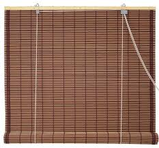 Roll Up Blinds For Windows Burnt Bamboo Roll Up Blinds Brown 24