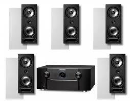 home theater wall speakers marantz sr7011 9 2 receiver w polk audio vs265 in wall speakers