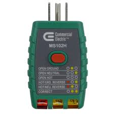 commercial electric tools gfci outlet tester green ms102h the