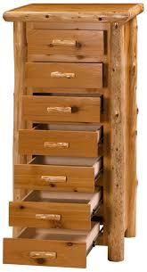 Cedar Log Bedroom Furniture by Timberline Log Lingerie Chest 7dlc Minnesota Cedar Log Bedroom