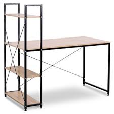 bureau bois acier woltu tsb01hei bureau d ordinateur table de bureau à domicile