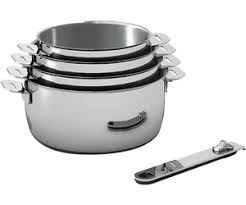 batterie de cuisine beka beka lot de 4 casseroles move on 1 manche amovible au meilleur