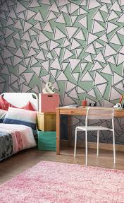 18 best teenage bedroom ideas images on pinterest green triangles wall mural