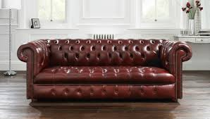 Leather Chesterfield Sofa Furniture Brown Leather Chesterfield Sofa For Living Room