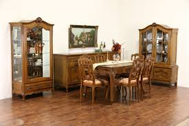 1940s Dining Room Furniture Sold Country French Carved Oak 1940 U0027s Dining Set Table 2 Leaves