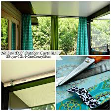 make your no sew diy outdoor curtains on a budget 2 boys 1