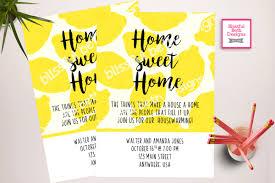 lemon housewarming invitation housewarming invitation lemon