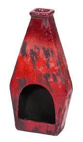 Red Clay Chiminea Rezfurniture Clay Wood Burning Chiminea U0026 Reviews Wayfair