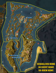 Assassin S Creed 2 Map Herakleion Nome Im Khent Nome And Ka Khem Nome Side Quests And