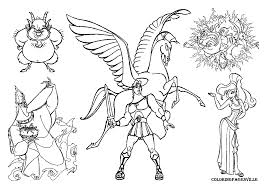 zeus coloring pages hercules and pegasus coloring page disney
