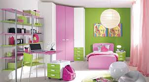 contemporary bedroom ideas for teenage girls with green colors