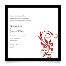 wedding reception wording square wedding invitation ceremony later reception